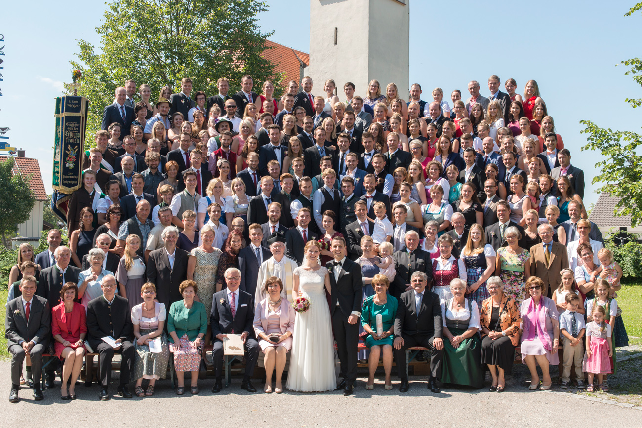 Hochzeitsfotografie: Das Gruppenfoto